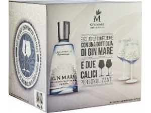 Gin mare  spagna mediterranean gin + 2 bicchieri in astuccio cl 70