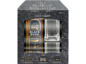 Bushmills  black bush irish whisky cl 70 più 2 bicchieri