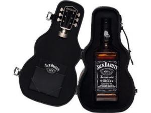 Jack daniel's whisky in astuccio a forma di chitarra cl 70