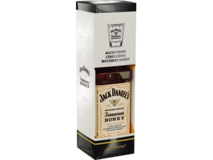 JACK DANIEL'S    whisky HONEY in astuccio + bicchiere cl 70