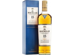 The maccallan 15 years old triple cask  single malt whisky  cl 70