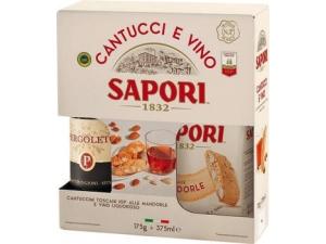 Sapori  cantucci gr 175 + vin santo ml 375