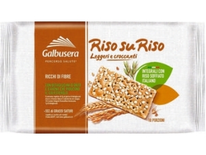 Galbusera  riso su riso cracker integrali con riso soffiato gr 380