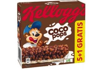 Kellogg's coco pops barrette snack 5+1 gratis - gr 120