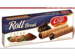 Gastone lago elledì  roll break  • cacao • nocciola • latte • fragola • cappuccino gr 80