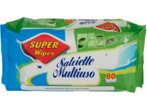 Super wipes  salviette igiene casa pz 80