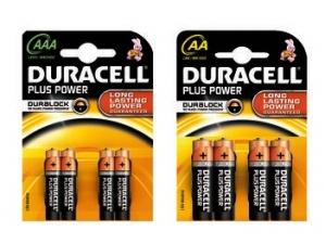 Duracell 4 pile  plus power  • stilo aa • ministilo aaa