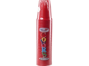 Dopla bicchiere rosso cc 200 pz 50
