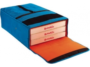 Gi metal borsa termica per 3 cartoni pizza cm 40 x 60