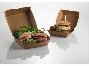 Leone  scatole per hamburger  cm 12 x 12 x 7 pz 50