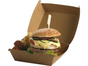 Leone  scatole per hamburger  cm 16 x 16 x 9 pz 50