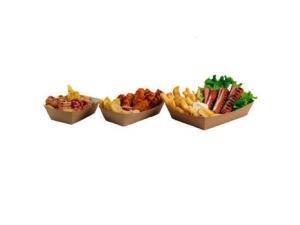 Leone street food vaschette per fritti pz 125 - cm 16,5x13,5x4,3