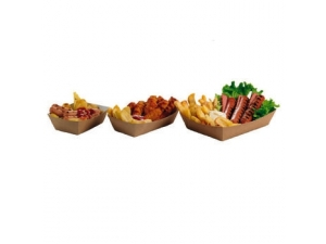 Leone street food vaschette per fritti pz 125 - cm 19,5x16,5x5,5