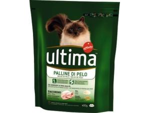 Ultima cat croccantini per gatto • appetito difficile • hairball  • sterilizzato POLLO • sterilizzato SALMONE • sterilizzato MANZO gr 400